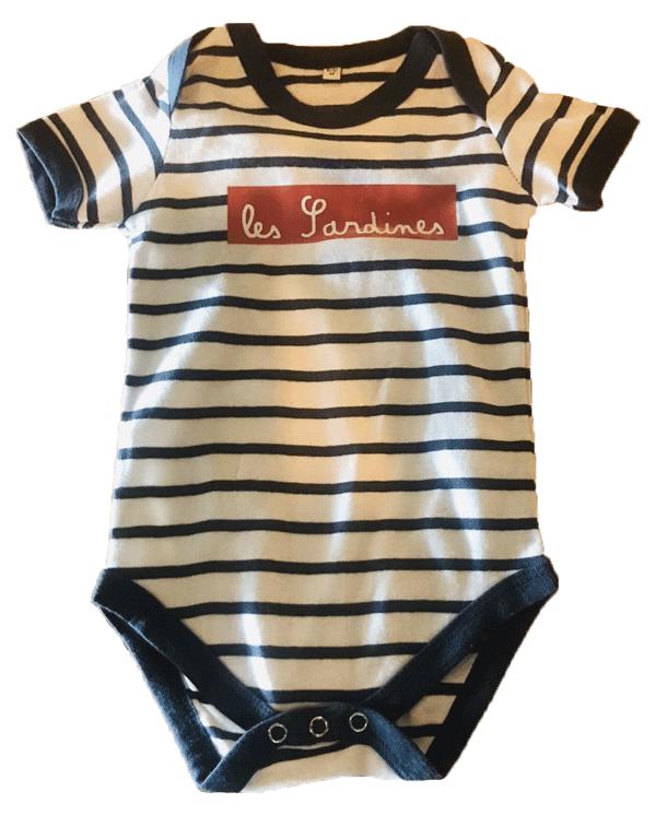 body bébé Les Sardines